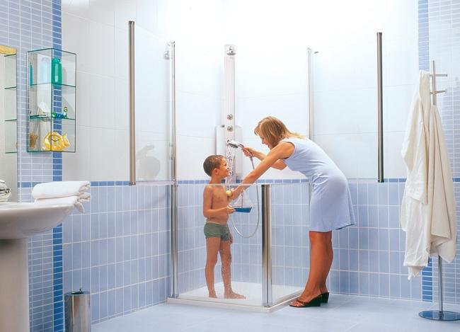 Baño General En Ducha:bañera por plato de ducha Mampara de ducha para niños