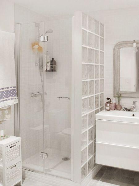 bañera por una ducha. Ducha con Mampara de Cristal y Pavés