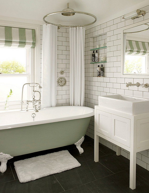 Reformar Un Baño Pequeno:Bathrooms with Claw Foot Tubs and Windows