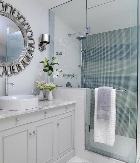 Reformar Baño Pequeno:reformar un baño  Baño con mampara de cristal