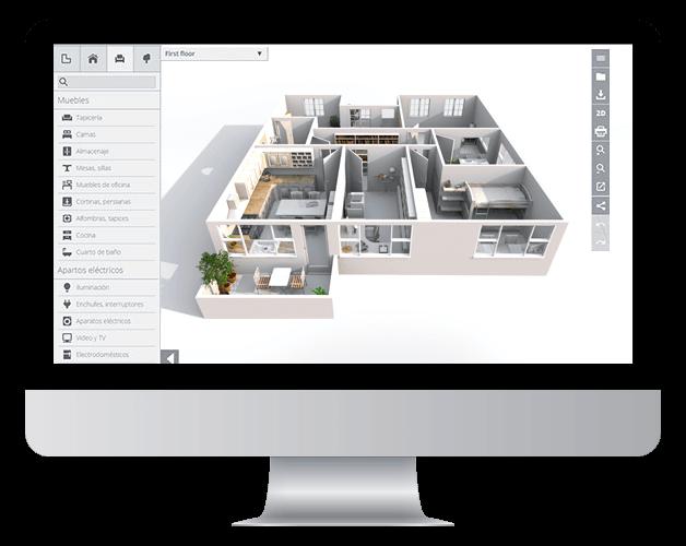 Planos 3d dise o de casas y decoraci n online planos 2d for Programa para disenar cocinas 3d online