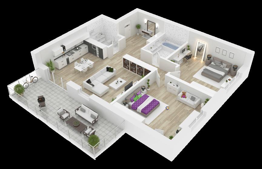 Planos 3d dise o de casas y decoraci n online planos 2d for Como disenar una casa gratis